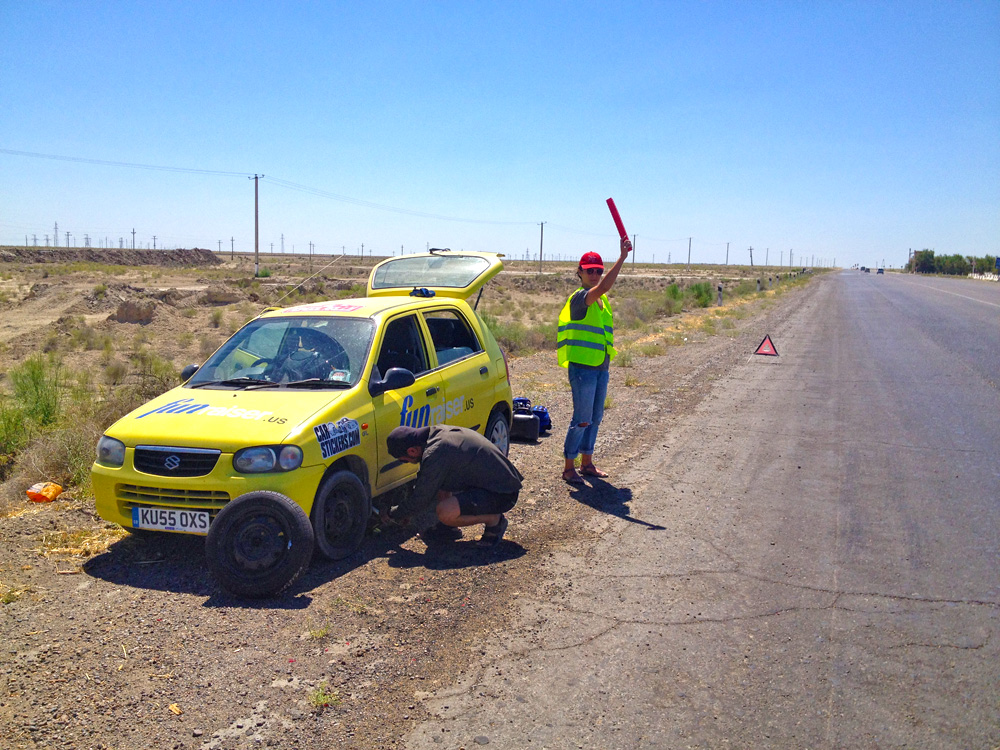 Uzbekistan_Mongol_Rally_Car_Fixing